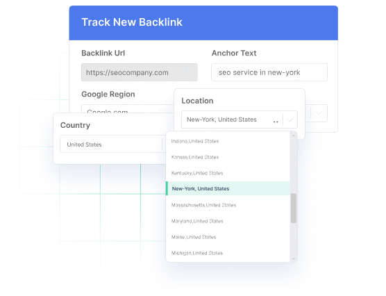 Local and international tracking of links